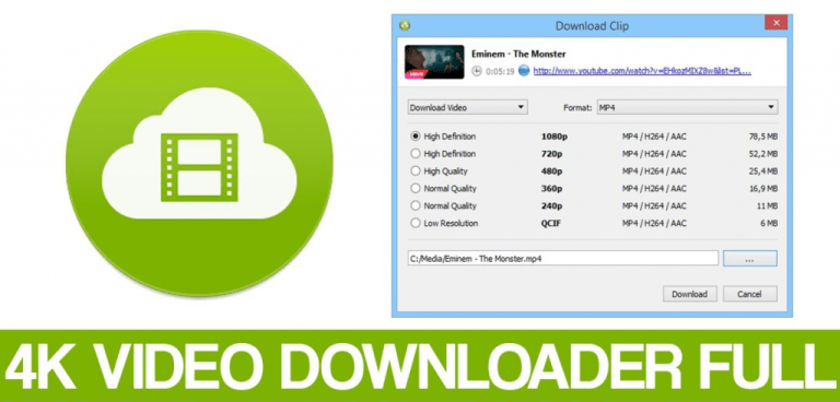 4K Video Downloader 4.11.3.342 Crack Free License Key + Activation Key