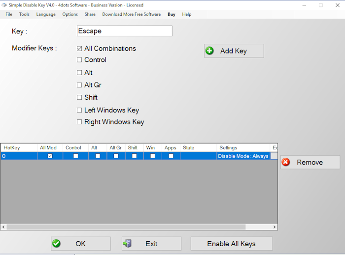 Simple Disable Key 11.4 Crack Plus Keygen Free Download 2020